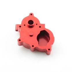 Mittleres Getriebegehäuse / Getriebebox - Aluminium Rot - Billet Machined Center Gearbox - Savage XS