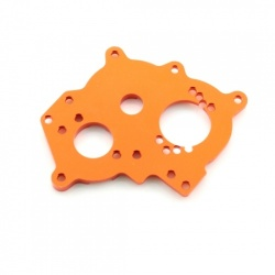 Motorplatte - Aluminium Orange - Billet Machined Alloy Motor Heatsink - Savage XS
