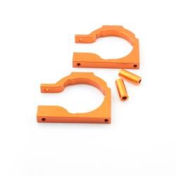 Motorhalter Platte Aluminium Orange - Billet Machined Motor Mount Plate (Savage Flux)