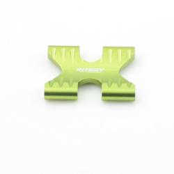 Getriebebox Strebe / Chassis Strebe - Aluminium Grün - Alloy Gear Box Brace - Savage XS