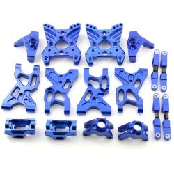 Aufhängungs- / Fahrwerks-Set - Aluminium Blau - Billet Machined Suspension Set - Savage XS