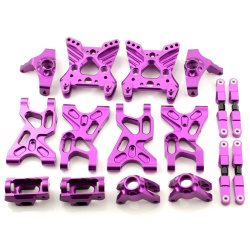Aufhängungs- / Fahrwerks-Set - Aluminium Lila - Billet Machined Suspension Set - Savage XS