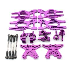 Aufhängungs- / Fahrwerks-Set - Aluminium Lila - Billet Machined Suspension Kit - HPI Bullet