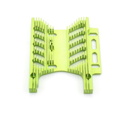 Motorplatte Aluminium Grün 10mm (Savage Flux) - Billet Machined Heatsink Motor Plate