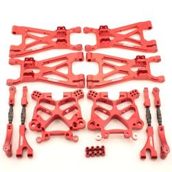 Aufhängungs- / Fahrwerks-Set Aluminium Rot - Complete Suspension Set