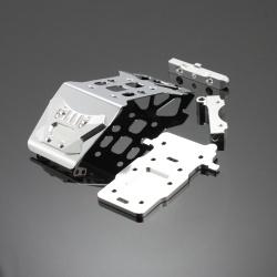 Stahl - Aluminium Front Skid Plate Silber - Savage XS