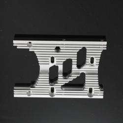 Motorplatte Aluminium Silber 10mm - HD Engine Heatsink Motor Plate