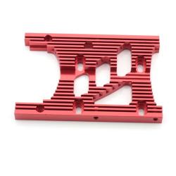 Motorplatte Aluminium Rot 10mm - HD Engine Heatsink Motor Plate