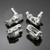 Lenkhebel-/ Lenkhebelträger Set Aluminium Silber -...