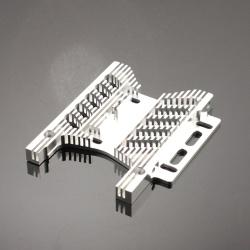 Motorplatte Aluminium Silber 10mm (Savage Flux) - Billet Machined Heatsink Motor Plate