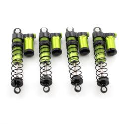 Gewindedämpfer Piggyback - Komplett Set (4 Stück) Aluminium Grün (Montiert)