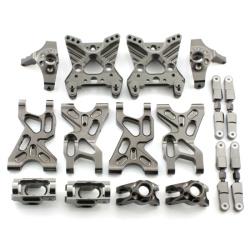 Aufhängungs- / Fahrwerks-Set - Aluminium Grau - Billet Machined Suspension Set - Savage XS