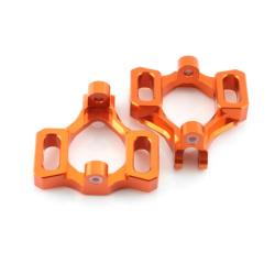 Lenkhebelträger Aluminium Orange - Billet Machined Castor Block